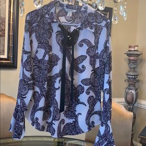 Gorgeous WHBM NWOT blouse with bell sleeves